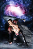 Galaktyczny astronautyczny bohater Zdjęcia Royalty Free