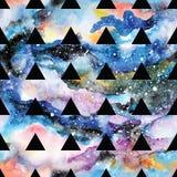 Galaktyka bezszwowy wzór Obrazy Royalty Free
