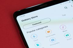 Galaktyka sklepu opisywani apps fotografia royalty free