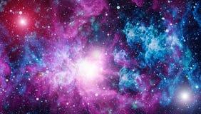 Galaktyka w przestrzeni, piękno wszechświat, czarna dziura Elementy meblujący NASA Fotografia Royalty Free