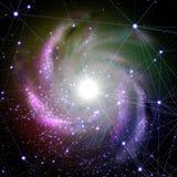 Galaktyka z siecią. Zdjęcia Stock