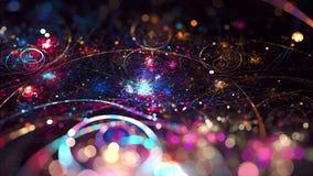 Galaktyki plamy Fractal sztuka Zdjęcia Royalty Free