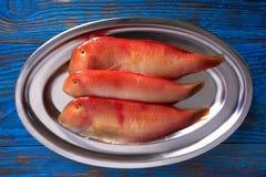 Galan fish Xyrichtys novacula seafood. Galan fish Xyrichtys novacula in a row seafood from Mediterranean stock photos