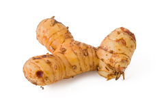 Galangal. Fresh galangal, or blue ginger, against a white background Royalty Free Stock Photos