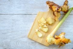Galangal ingredients in the cooking stock photos