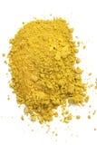 Galangal powder. Food ingredient in white background Royalty Free Stock Photo