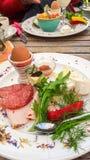 Galanteryjny śniadanie talerz - Europejski zachwyt zdjęcie stock
