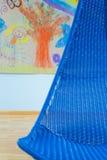 Galanteryjny błękitny krzesło Zdjęcia Royalty Free