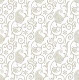 Galanteryjny bezszwowy kwiecisty tło z Paisley Zdjęcie Royalty Free