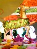 Galanteryjny Bożenarodzeniowy Koń Zdjęcia Royalty Free