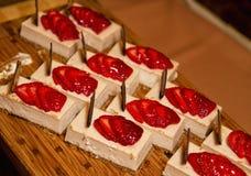 Galanteryjny Cheesecake Zdjęcia Stock