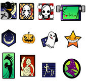 Galanteryjny i krańcowy Halloweenowy symbolu set Obrazy Stock