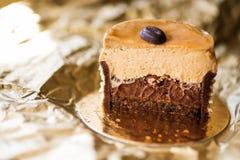 Galanteryjny kawowy tort Obrazy Royalty Free