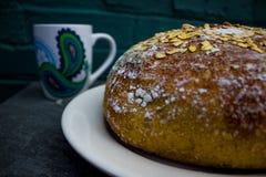 Galanteryjny kubek i bochenek chleb Obraz Stock