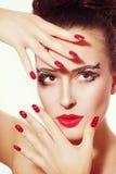 Galanteryjny makijaż i manicure Obraz Royalty Free