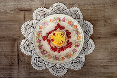 Galanteryjny owocowy deser Zdjęcie Royalty Free
