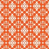 Galanteryjny pomarańczowy ornament - bezszwowy wzór ilustracji
