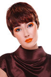 Galanteryjny rocznika makijaż zdjęcie royalty free