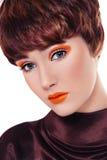 Galanteryjny rocznika makijaż zdjęcia royalty free