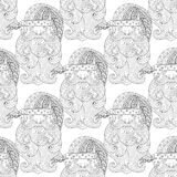 Galanteryjny Santa bezszwowy wzór, zentangle styl Freehand etniczny X royalty ilustracja