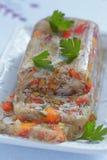 Galantina del conejo con las verduras Foto de archivo libre de regalías