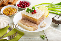 Galantine aspic and spices Royalty Free Stock Photography