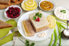Galantine aspic and spices Stock Photography