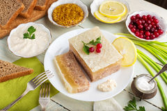 Galantine aspic and spices Royalty Free Stock Images