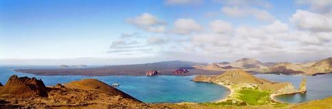 Galapagos-Inselpanorama Lizenzfreies Stockfoto