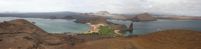 Galapagos Island Panorama - Bartolome and Pinnacle Royalty Free Stock Images