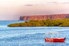Galapagos Islands at Dusk. Dusk at the Galapagos Islands in Ecuador Stock Photo