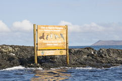 Galapagos Islands Isabella Island Park Sign Stock Photography