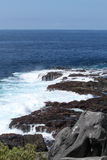 Galapagos Islands Seascape. Looking out over lava rocks Royalty Free Stock Image