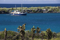 Galapagos Islands - Tourist boat Stock Images