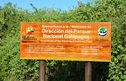 Galapagos nationalparktecken Royaltyfri Bild