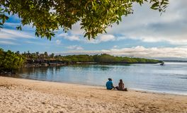 galapagos plażowy zmierzch Zdjęcia Royalty Free