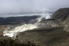 Galapagos Sulfur Volcano Stock Photography