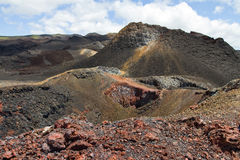 galapagos vulkan Royaltyfria Foton
