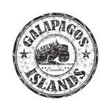 galapagos wysp pieczątka royalty ilustracja