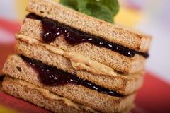 galaretowa kanapka arachidowa masła fotografia stock
