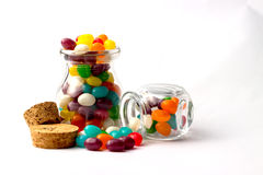 Galaretowej fasoli cukierki Zdjęcie Stock
