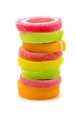 Galaretowy cukierki, smak owoc, cukierku deserowy kolorowy na białym backg Obraz Royalty Free