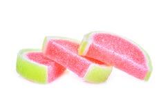Galaretowy cukierki, smak owoc lub cukierku deserowy kolorowy z cukierem, zdjęcia stock