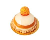 Galaretowy tort odizolowywający na bielu zdjęcia stock