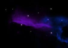 Galassia astratta di notte con le stelle Fotografie Stock Libere da Diritti