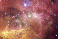 Galassia d'ardore, carta da parati impressionante della fantascienza illustrazione vettoriale