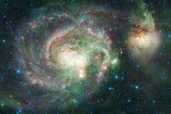 Galassia da qualche parte nello spazio cosmico Elementi di questa immagine ammobiliati dalla NASA immagine stock
