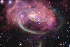 Galassia da qualche parte nello spazio cosmico Elementi di questa immagine ammobiliati dalla NASA illustrazione vettoriale