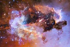 Galassia da qualche parte nello spazio cosmico Elementi di questa immagine ammobiliati dalla NASA illustrazione di stock