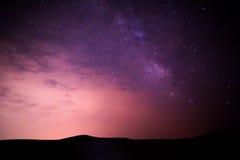 Galassia del deserto di Tengger Fotografia Stock Libera da Diritti